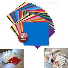 "35 Pack 12""x12"" Self Adhesive Vinyl Sheets Permanent for Cricut Silhouette Cameo"
