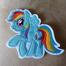 """4.75"""" Hasbro My Little Pony RAINBOW DASH Iron-on Embroidered PATCH!"""