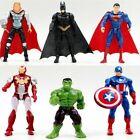 6PCS Marvel Avengers Super Hero Figures Toys Cake Toppers Hulk Batman Super Man