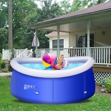 Above Ground Swimming Pool Easy Set Inflatable Giant Round Pool 8ft x 30in Pvc