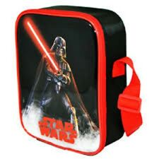 Star Wars Vertical OSCURO Vader Picnic Viaje Almuerzo Escolar Bolsa Negra