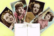 ART PHOTO - 1930s Hand-Coloured/Tinted Film Star Postcards #1 to #67