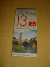 IGN France Carte Touristique N°13 Pyrénées Occidentales 1977