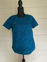 Womens Dorothy Perkins Blue Lace Top Size 14 <G540 z