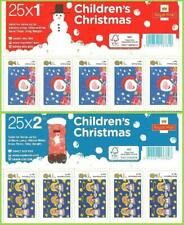 2013 Christmas Children Design 1st & 2nd Self Adhesive Complete Sheets MNH