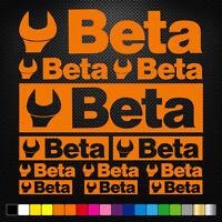 Compatible BETA 12 Stickers Autocollants Adhésifs Moto Voiture Sponsor Marques