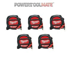 Milwaukee 48225226 8M/16ft Tape Measure Non-Mag - Five Pack