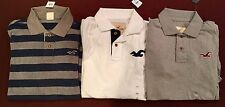 NWT Men's Hollister Abercrombie Lot 3 Polo Shirts XL Extra Large  Worldwide Ship