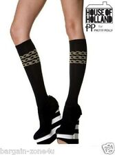 Ladies Women Black Triple Chain Cotton High Over Knee Long Warm Socks