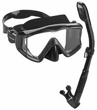 Cressi Panoramic Wide View Mask with Dry Snorkel Set