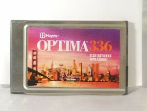 Hayes Optima 336 PC Card 33.6 kbps V.34 w/Fax Dial-up (PCMCIA) Model 5346US