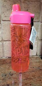 Victoria's Secret Pink Collegiate Water Bottle Logo 32 Oz Flip Top, Handle ,New