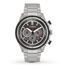 Citizen Eco-Drive Mens CA4240-82E Chronograph Titanium Bracelet Watch