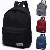 US Canvas Women Men Unisex bags Backpack School Shoulder Bag Rucksack Travel Bag