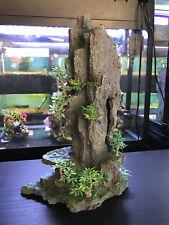 TALL ROCK MOUNTAIN FISH TANK AQUARIUM ORNAMENT (36cm)