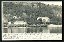 Meina ( Novara ) : Villa Faraggiana - cartolina viaggiata settembre 1900