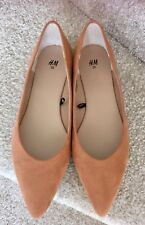 H&M Shoes Size 6 Women's Ballerinas Tan Faux Suede Flats