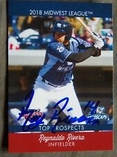 Detroit Tigers Reynaldo Rey Rivera Signed 2018 Midwest League Top Prospects Card