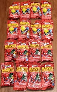 Mighty Beanz Marvel Super Heros lot of 16 packs 32 Mighty Beanz Total