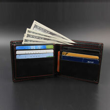 Men Boy Bifold Business PU Leather Wallet ID Credit Card Holder Purse Pockets TN