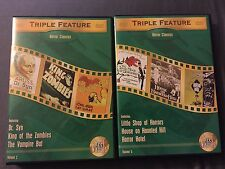 Reel Horror DVDs Vol 2 5 Dr Syn King Zombies Vampire Bat Little Shop Hotel House