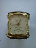 "Vintage Westclox Travel Alarm Clock Japan ""TIME 'N TEMP"" Working/Good Condition"