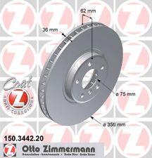 BMW E53 X5 SERIE COPPIA DI Zimmermann Freno Anteriore Dischi (34116756847)