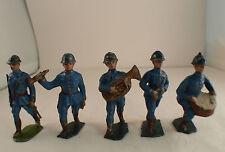LM XR Lot de 5 soldats 1914/1918 musique fanfare plomb creux ancien
