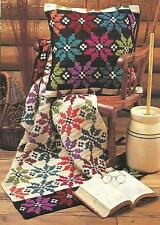 *Snowflake Afghan & Pillow crochet PATTERN INSTRUCTIONS