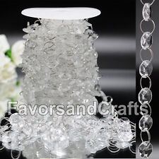 30FT Wedding Acrylic Garland Diamond Crystal Bead Chandelier Hanging Decoration