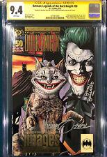 JIM LEE BRIAN BOLLAND MIKE ZECK LEGENDS DARK KNIGHT 50 SIGNED SS CGC Batman CBCS