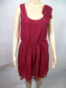 New Ajoy Short Red Party Cocktail Dress With Shoulder Ruffle - Womens Size 10