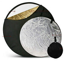 """43"""" 5 in1 Photography Multi collapsible disc Light Reflector 110cm"""