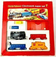 More details for vintage hornby post tri-ang r533 clockwork super set oo gauge train set 1976