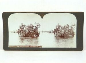 """Canadian Scenery Stereoview """"The Devil's Oven, 1000 Isles."""" Nerlich & Co ©1905"""