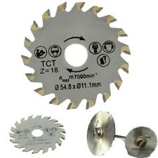 New Circular TCT Saw Blade 18 Teeth 54.8mm Dia Fits Concrete Cement Wood Cutting