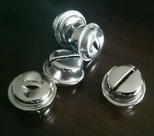 5 x Large Metal Silver Craft Bells 2cm - Pet Rabbit Guinea Pig Jingle Toy Parts