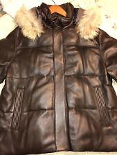 Men's Vintage Andrew Marc Quilted Leather Fur Parka Jacket 2XL XXL $995.00 SALE!