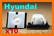 10 Hyundai bump scratch strip body moulding trim fastener clips