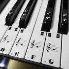 88 KEY transparent Keyboard Piano Stickers 36 black and 52 white keys