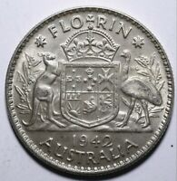 1942 Australia One 1 Florin - George VI - Lot 851