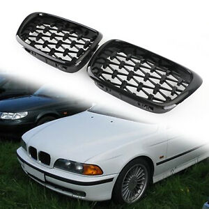 Meteor Black Front Kidney Grill Mesh Grille Fits BMW E39 1995-2003 5 Series SL