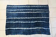 Altes Wickeltuch für Frauen Baumwolle Dogon DF60 Indigo Old Cloth Tissu Afrozip
