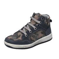 Chaussures de Bébé DIDI BLU 24 Ue Baskets Gris en Daim Brun Tissu BK200-24