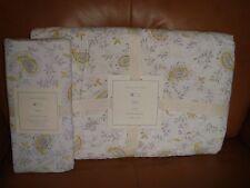 Pottery Barn Kids Lara Paisley Crib Quilt + Crib Sheet Gr 00004000 Ay/Yellow New