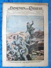 La Domenica del Corriere 21 ottobre 1917 WW1 Trincea - Aereo Italia - America