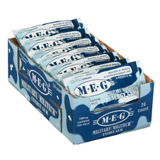 MEG - Military Energy Gum   100mg caffeine pc   Arctic Mint 24 Pack (120 Count)