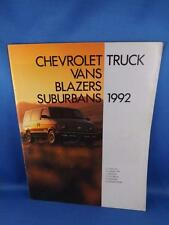 1992 CHEVROLET TRUCKS VANS BLAZERS SUBURBANS SALES BROCHURE LUMINA ASTRO S-10