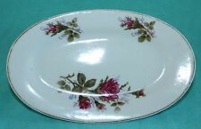 "Vtg Moss Rose Pattern Plate Gravy Boat Plate Underplate 7"" Made in Japan"