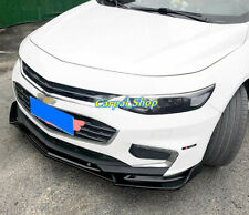 Black For Chevrolet Malibu 2016 2018 Front Bumper Lip Body Kit Spoiler Splitter